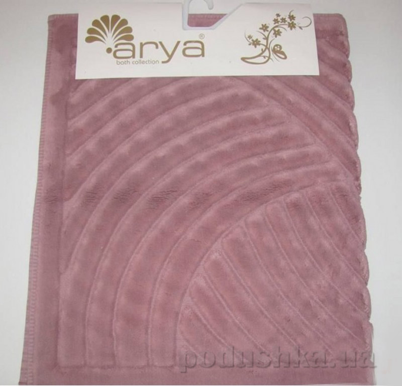 Набор ковриков для ванной комнаты Yazgulu Arya 1380043 темно-розовый