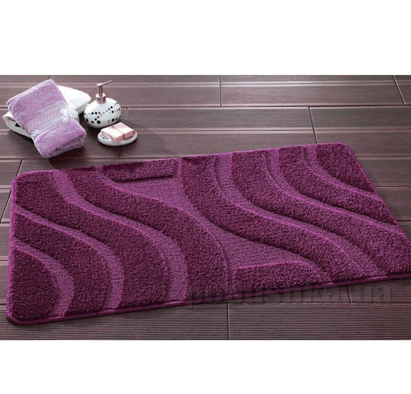 Набор ковриков для ванной Symphony Confetti Aubergine фиолетовые
