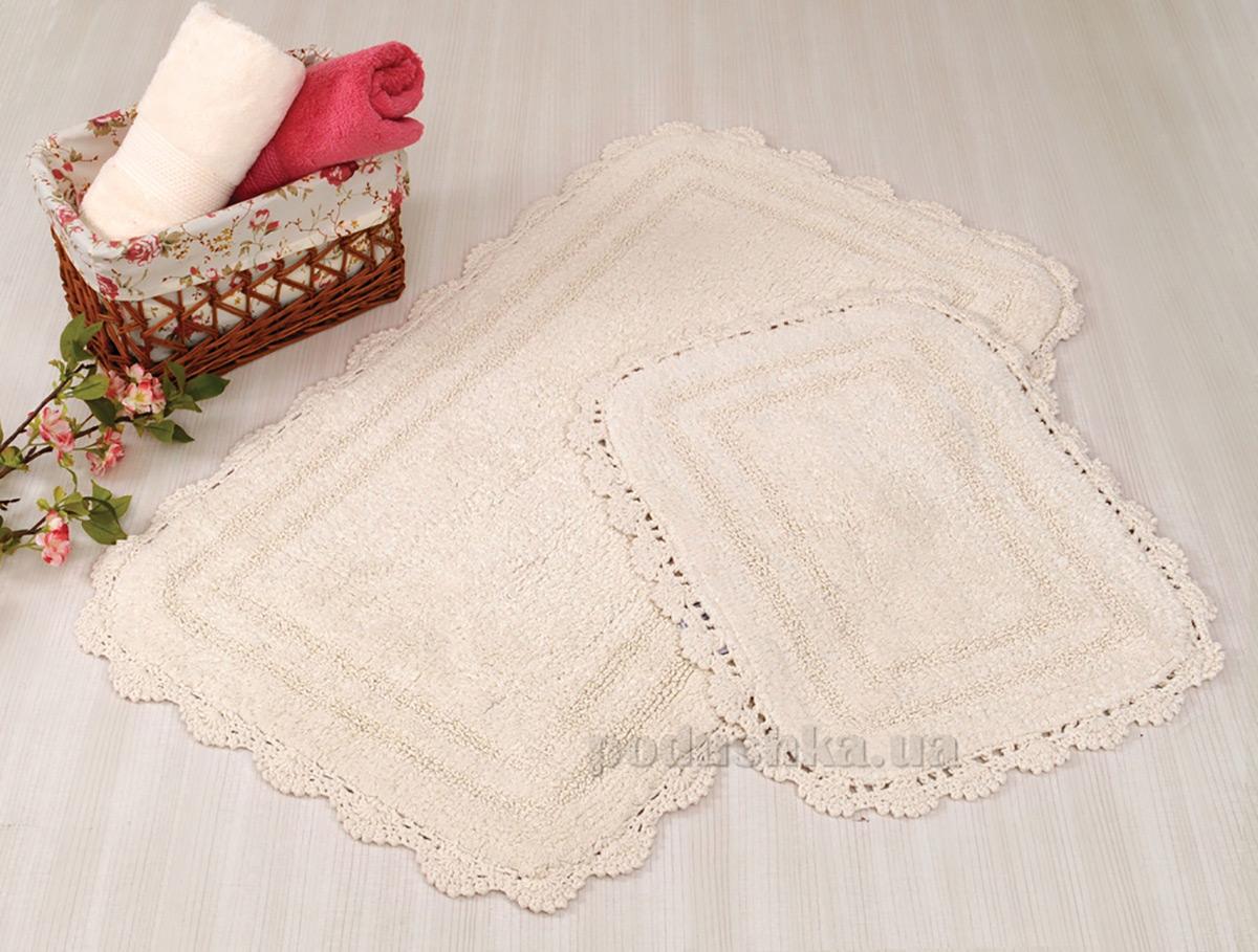 Набор ковриков в ванную Irya Sahra кремовый