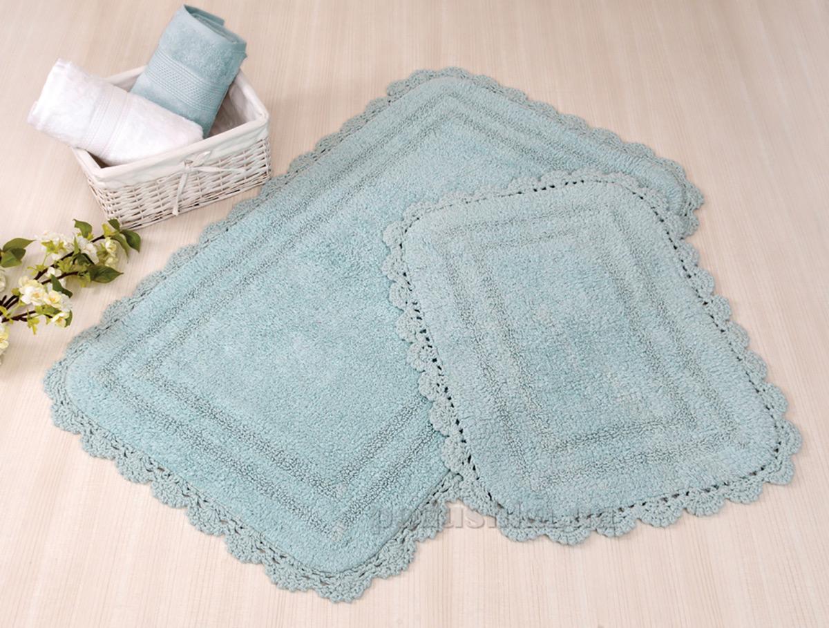 Набор ковриков в ванную Irya Sahra ментоловый