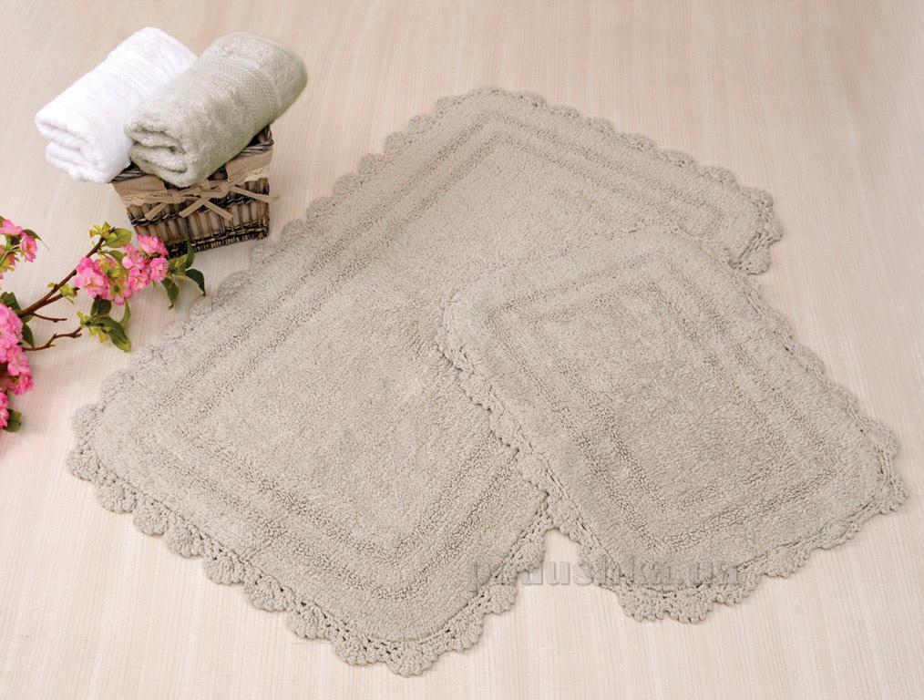 Набор ковриков в ванную Irya Sahra серый
