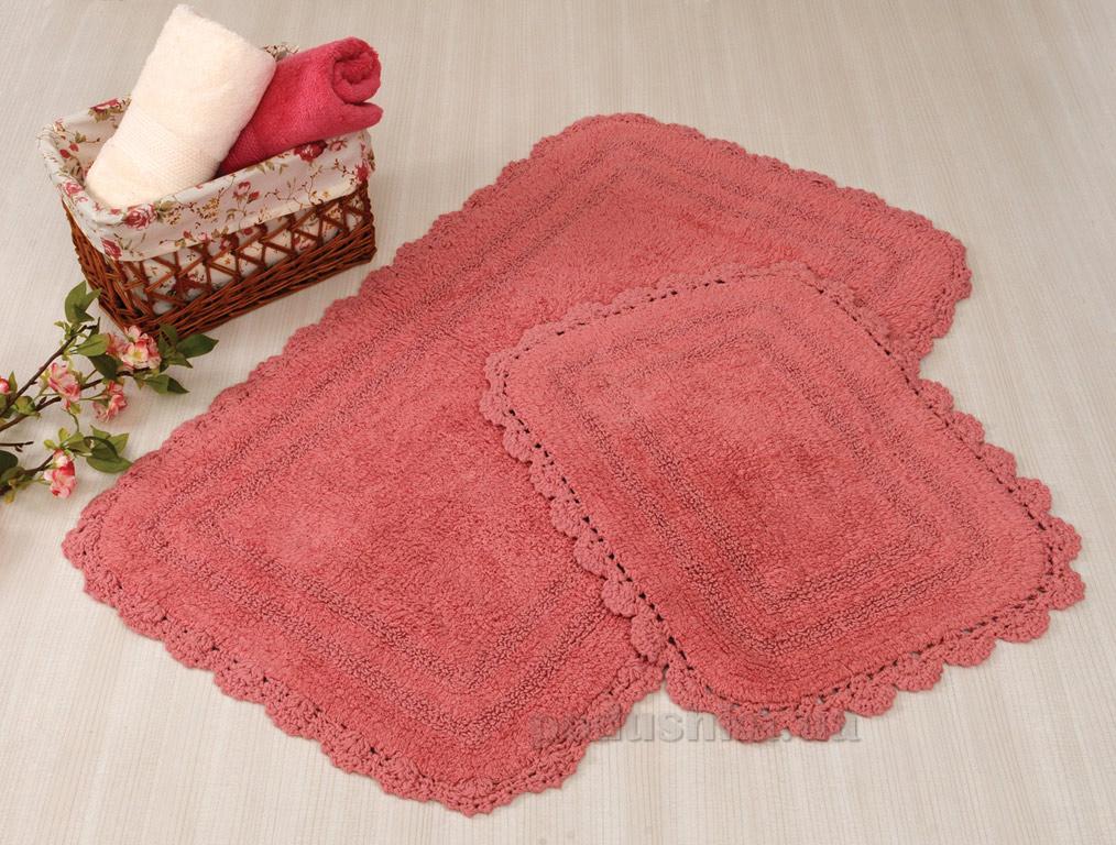 Набор ковриков в ванную Irya Sahra темно-розовый