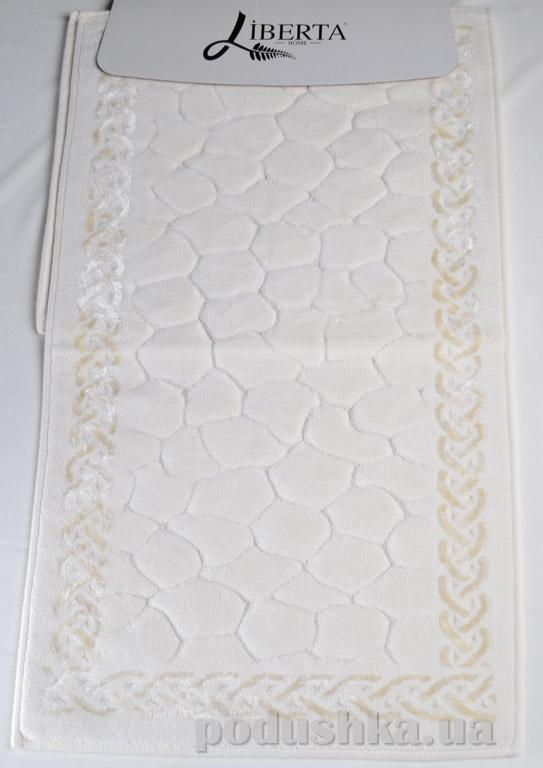 Набор ковриков в ванную Liberta Stones кремовый
