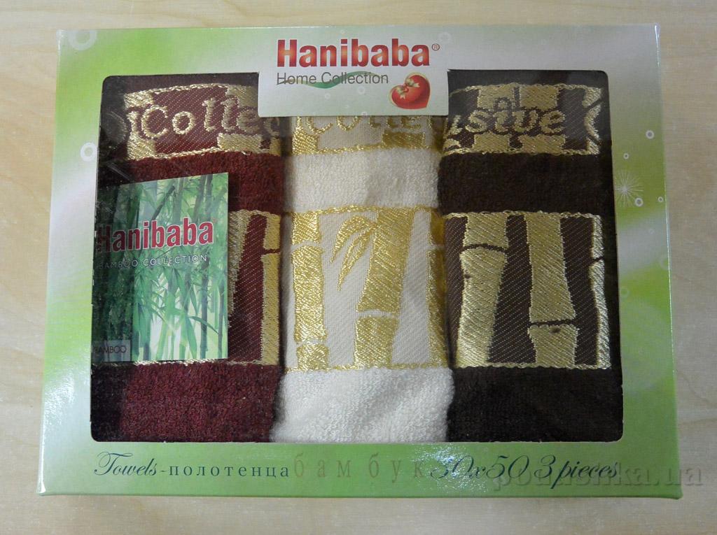 Набор кухонных полотенец Hanibaba Exclusive bamboo крем 30х50 см - 3 шт Hanibaba