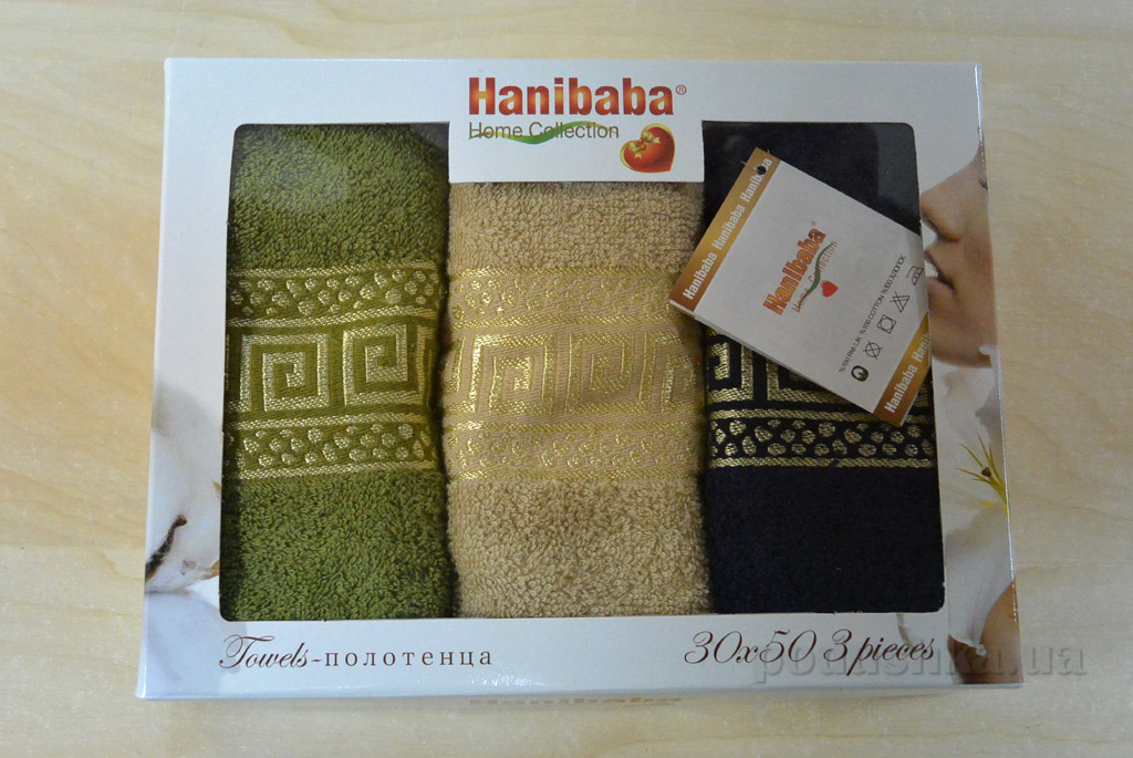 Набор кухонных полотенец Hanibaba Grec бежевый