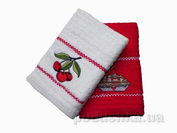 Набор кухонных полотенец Izzihome Mutfak Вишня
