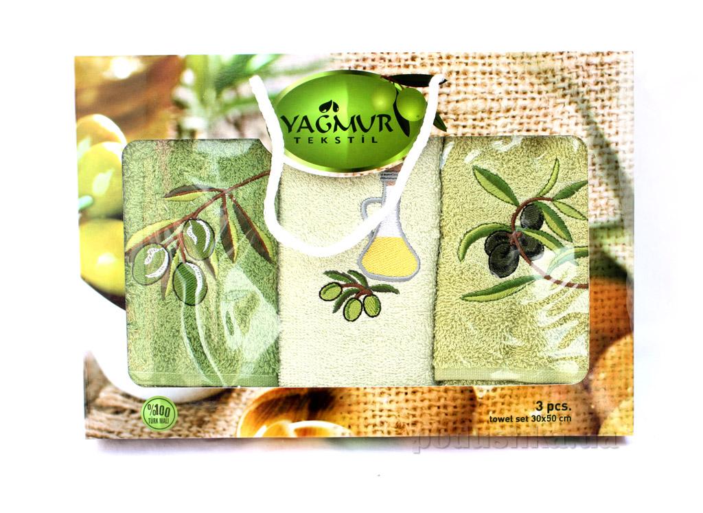 Набор кухонных полотенец Izzihome Yagmur Olive-1 (3 шт)