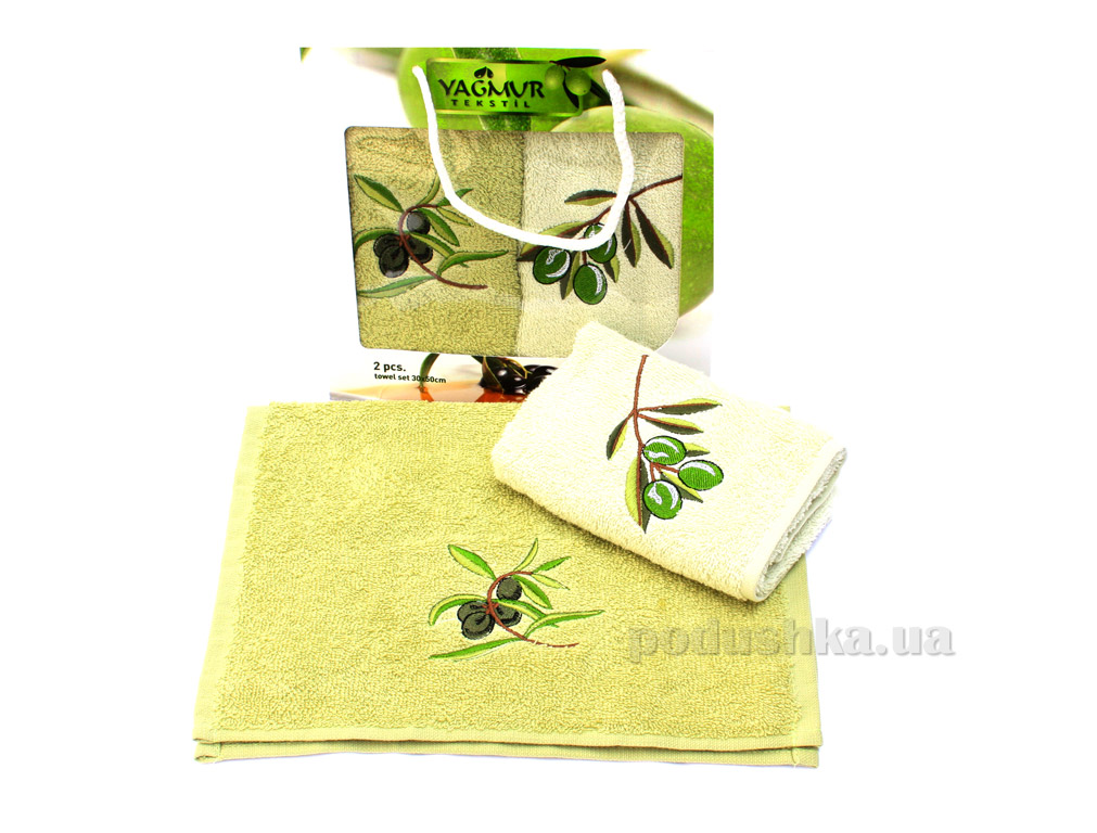 Набор кухонных полотенец Izzihome Yagmur Olive-1 (2 шт)