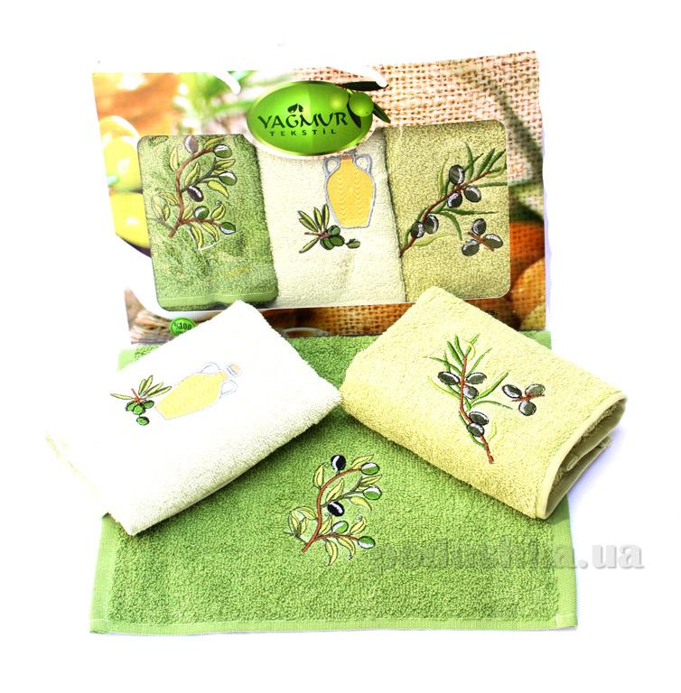 Набор кухонных полотенец Izzihome Yagmur Olive-2 (3 шт)