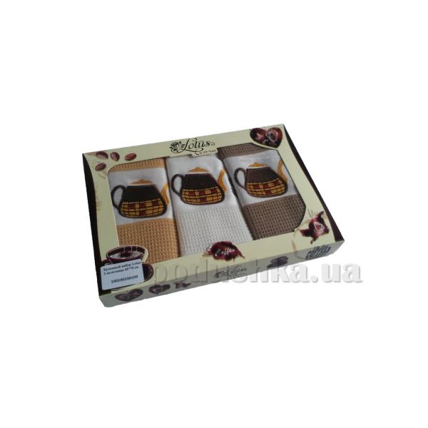 Набор кухонных полотенец Lotus Coffee 109