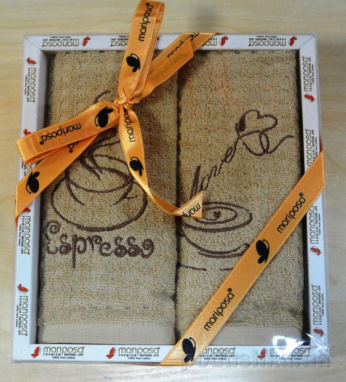 Набор кухонных полотенец Mariposa 008 Эспрессо
