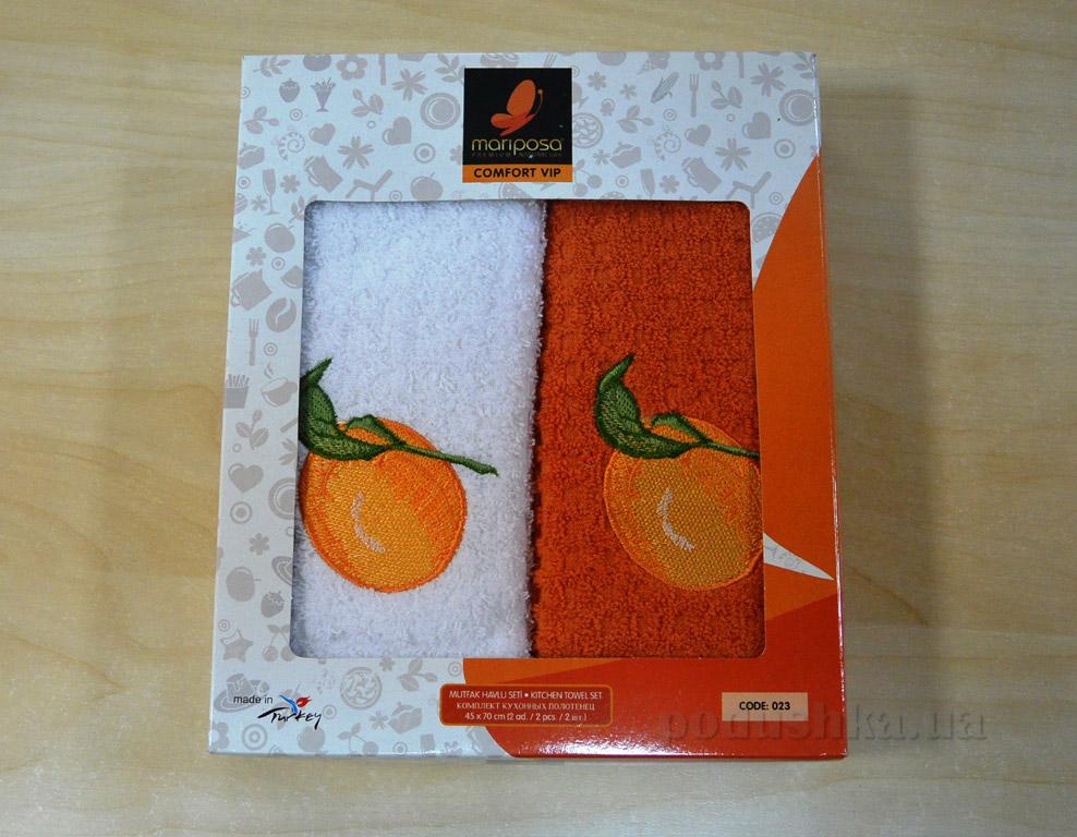 Набор кухонных полотенец Mariposa 023 Апельсин   Mariposa