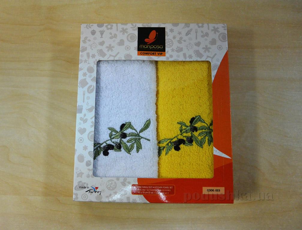 Набор кухонных полотенец Mariposa 023 Маслины ветка желтый