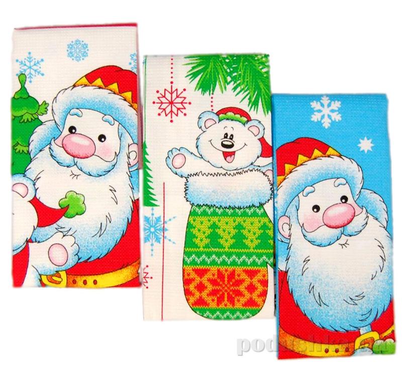 Набор кухонных полотенец Новый год Home line 114043