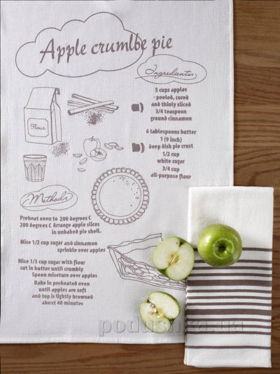 Набор кухонных полотенец Pavia Apple crumlbe pie
