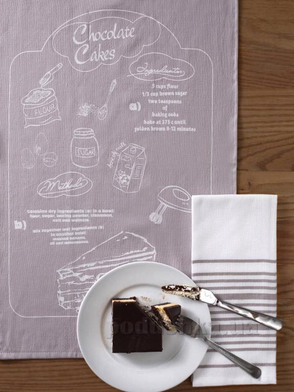 Набор кухонных полотенец Pavia Chocolate cakes