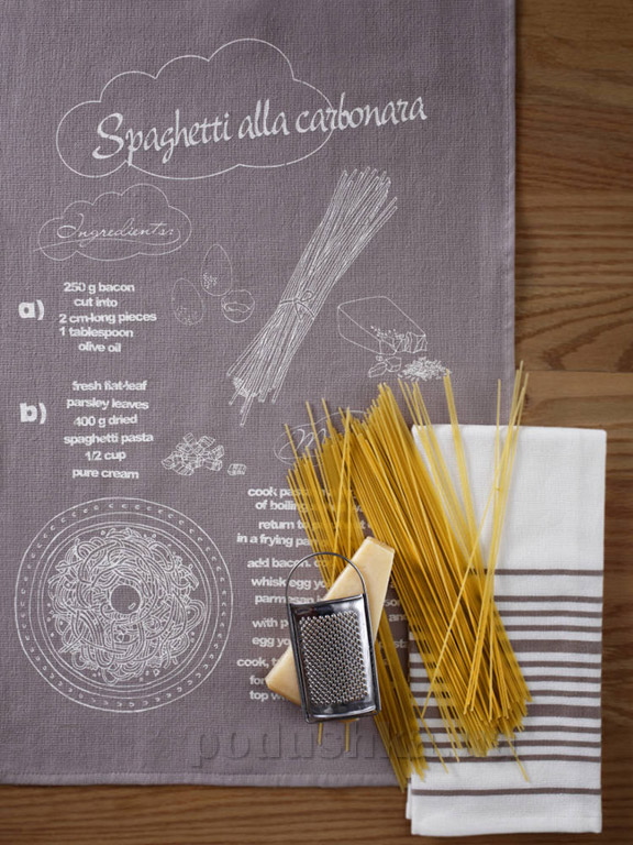 Набор кухонных полотенец Pavia Spaghetti alla carbonara 40х60 см - 2 шт Pavia