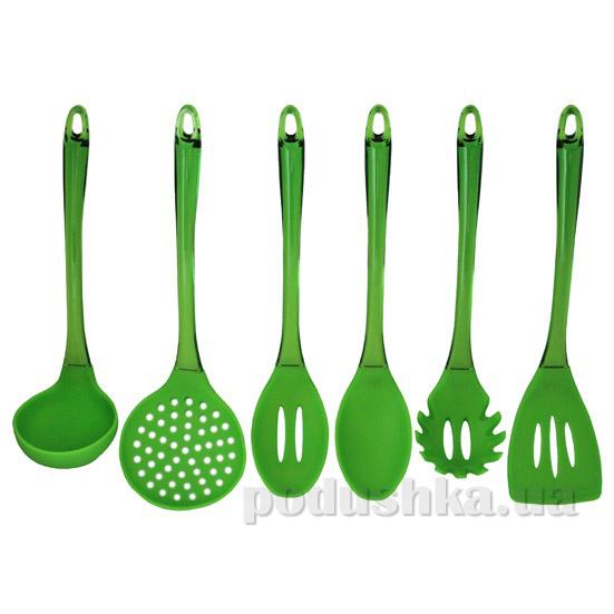 Набор кухонных принадлежностей 6 предметов Kamille салатовый 7718