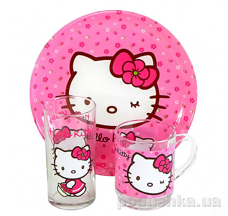 Набор Luminarc Hello Kitty Sweet Pink 3 предмета