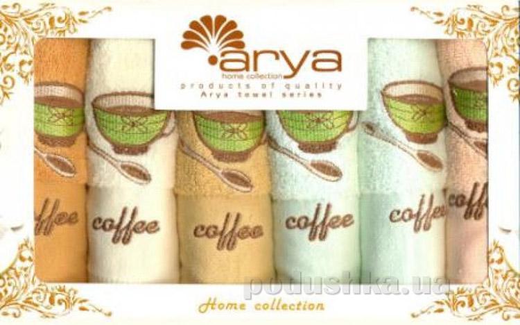 Набор махровых полотенец Arya Coffe