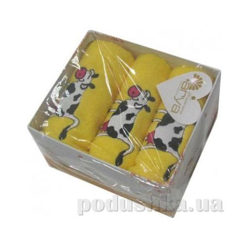 Набор махровых полотенец Arya Cow желтый