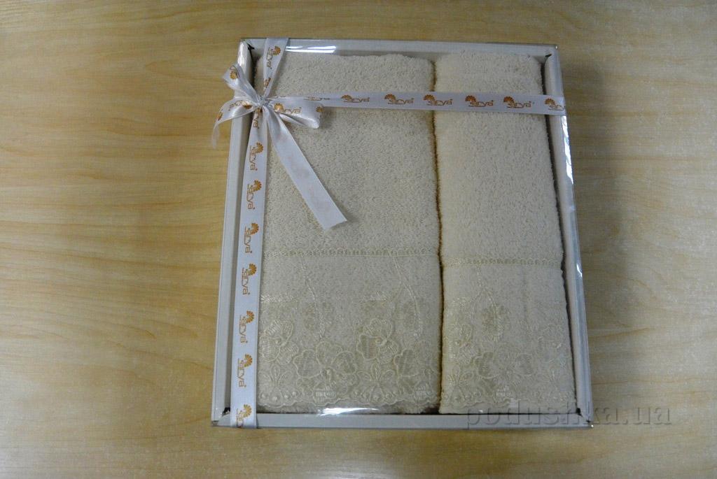 Набор махровых полотенец Arya Cream