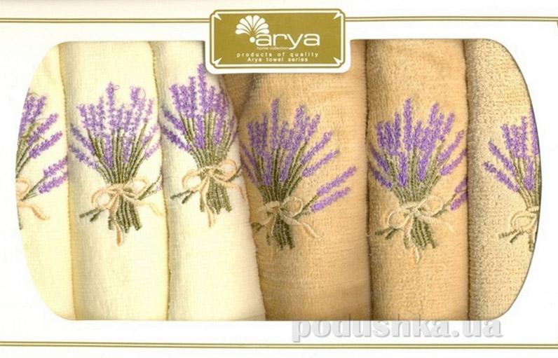 Набор махровых полотенец Arya Dahlia 6 шт