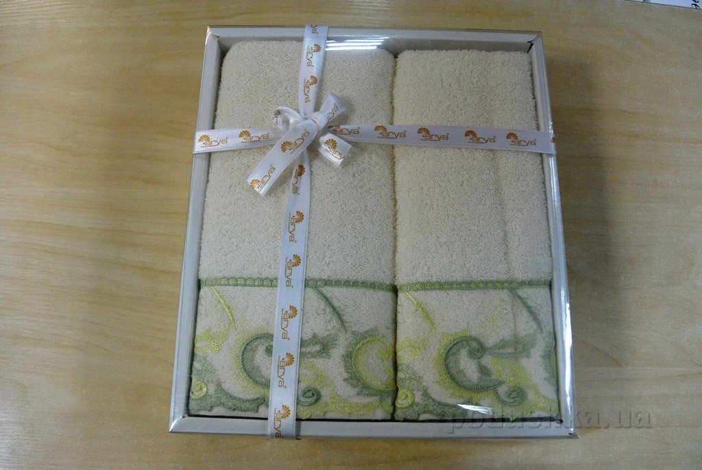 Набор махровых полотенец Arya Dalga cream