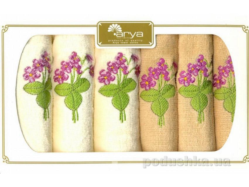 Набор махровых полотенец Arya Gardenia 6 шт