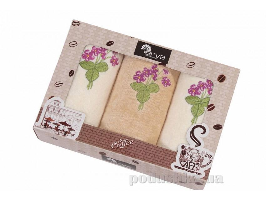Набор махровых полотенец Arya Gardenia 3 шт