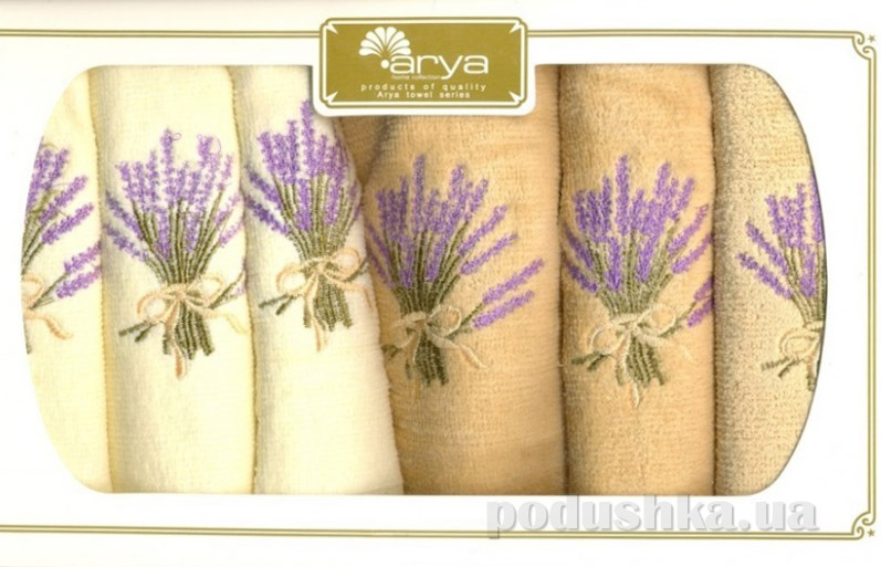 Набор махровых полотенец Arya Mimosa 6 шт