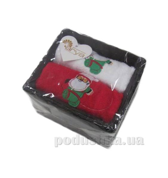 Набор махровых полотенец Arya Santa Claus 40х60 см - 2 шт ARYA