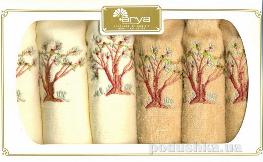 Набор махровых полотенец Arya Tree 6 шт