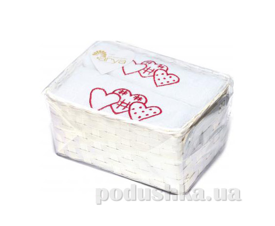 Набор махровых полотенец Arya Tree hearts белый