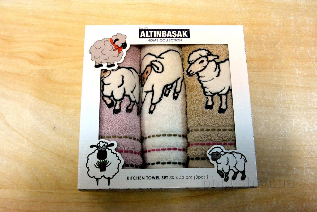 Набор махровых полотенец для кухни Altinbasak Барашек