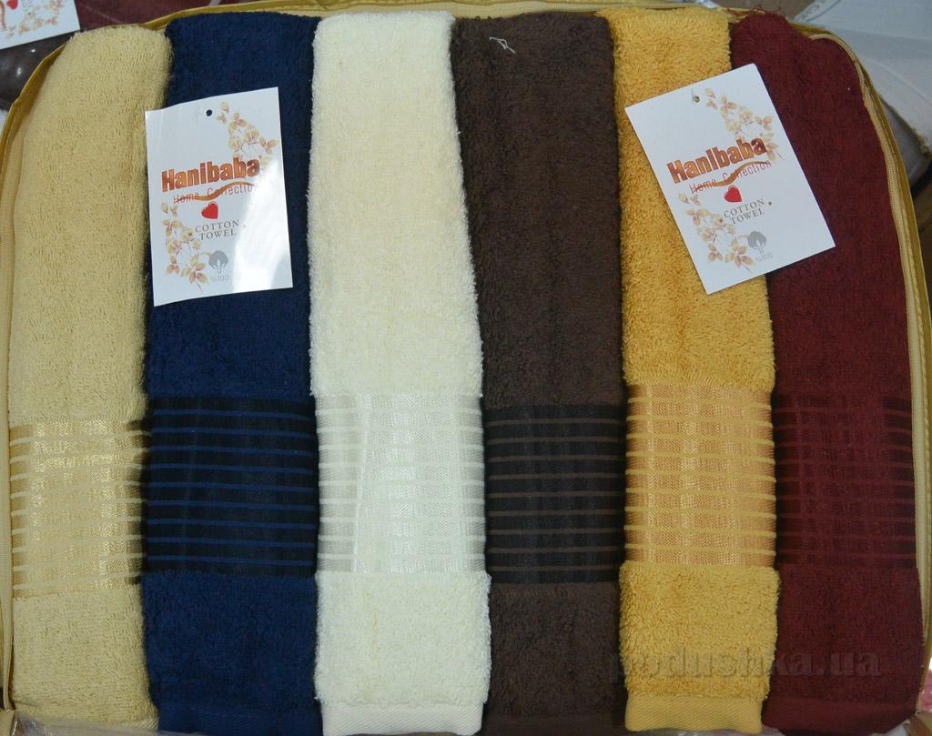 Набор махровых полотенец Hanibaba Bahar