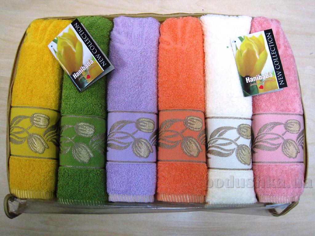Набор махровых полотенец Hanibaba Tulip