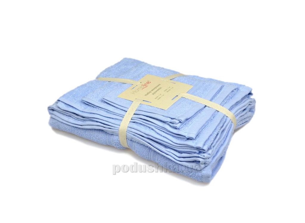 Набор махровых полотенец Home line Индия голубой 4 шт