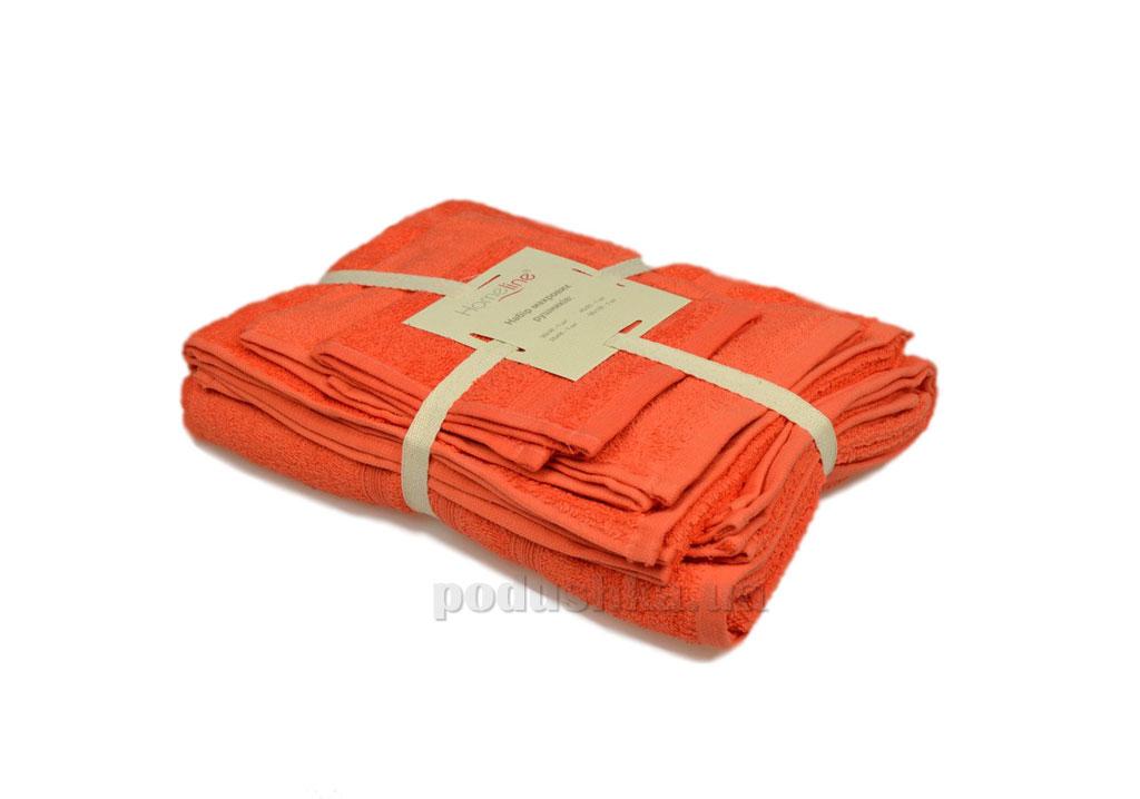 Набор махровых полотенец Home line Индия коралловый 4 шт