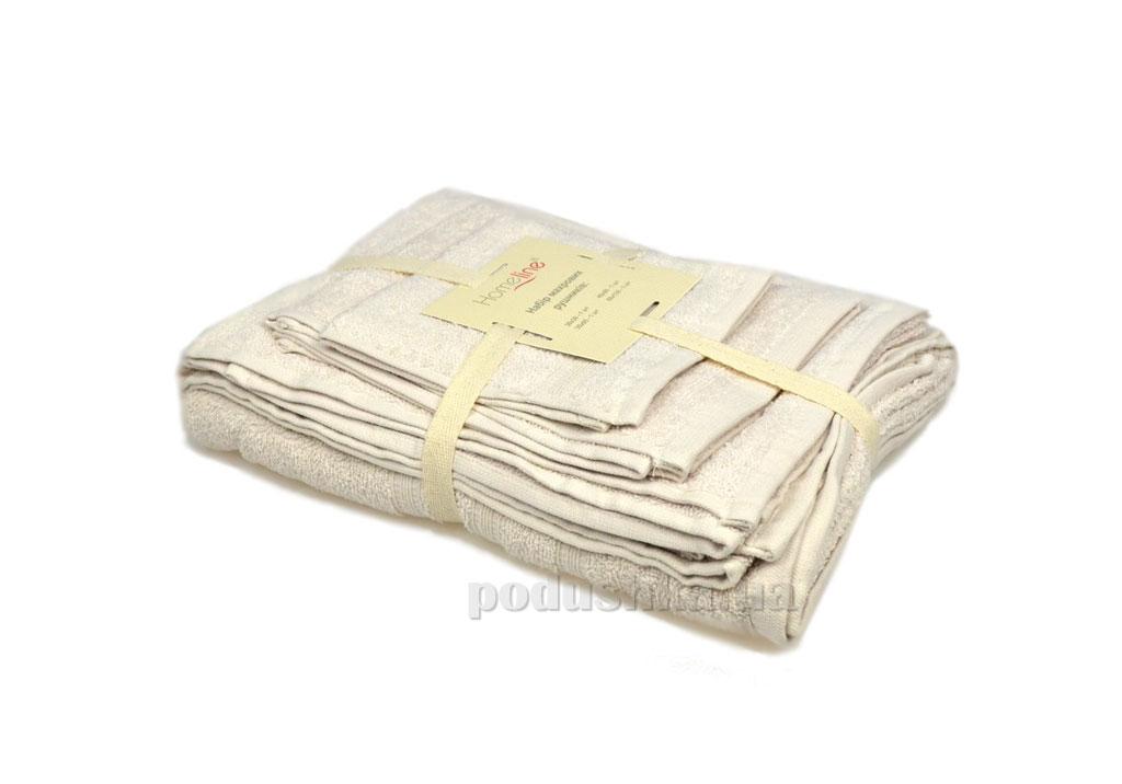 Набор махровых полотенец Home line Индия кремовый 4 шт