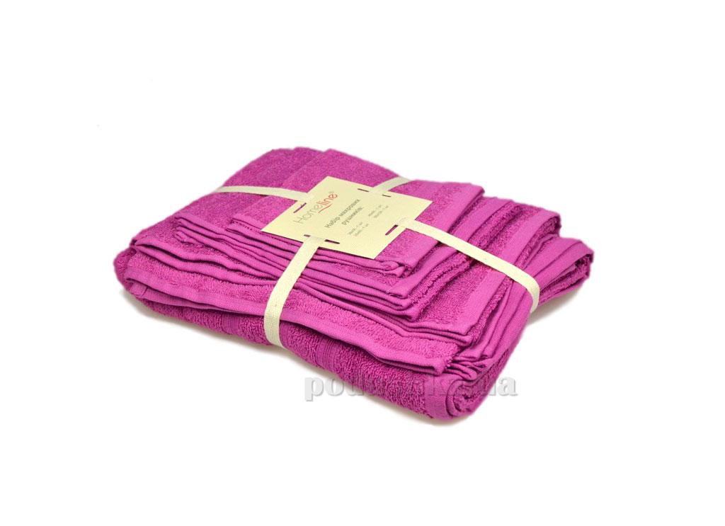 Набор махровых полотенец Home line Индия лиловый 4 шт