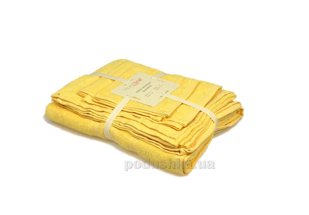 Набор махровых полотенец Home line Индия светло-желтый 4 шт