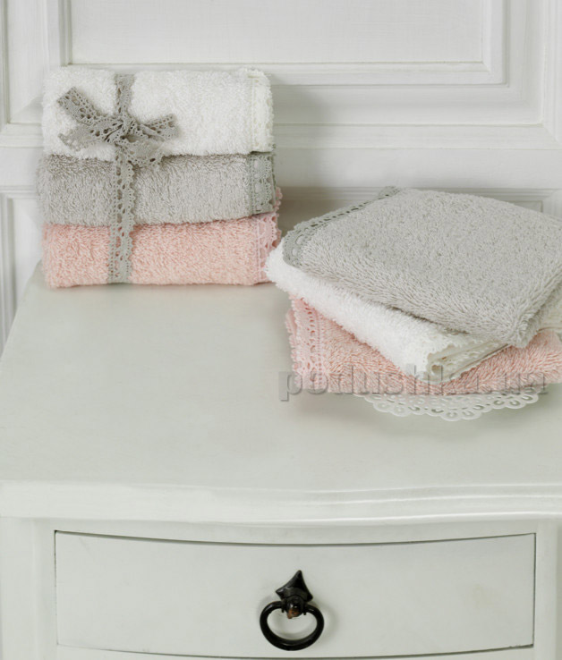 Набор махровых полотенец Ladinne Jasmin ecru-blush-stone