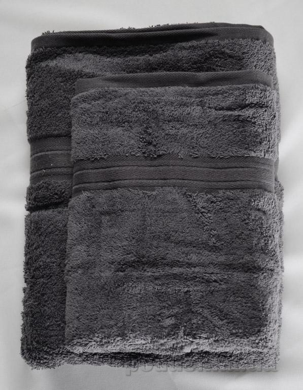 Набор махровых полотенец Land's end серый