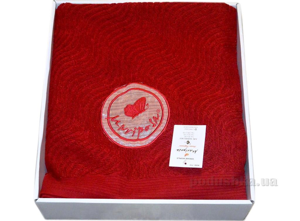 Набор махровых полотенец Mariposa красный 3 шт