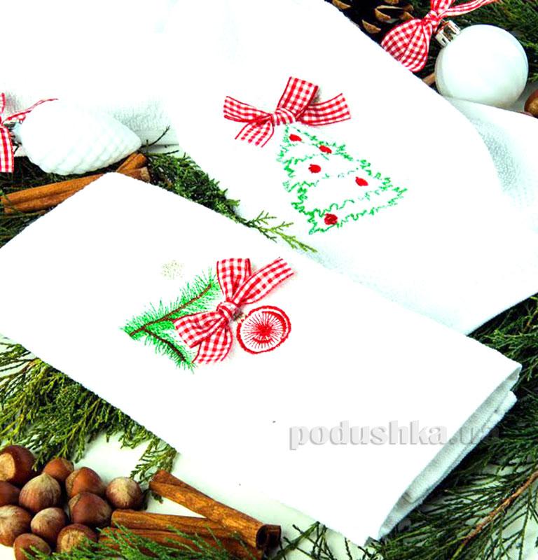Набор махровых полотенец Новогодний Турция