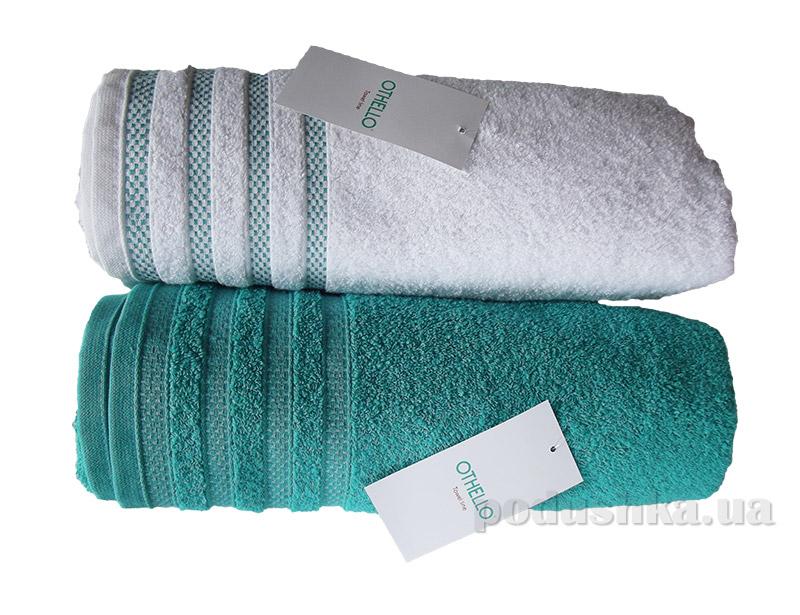 Набор махровых полотенец Othello Aqua белое и бирюзовое