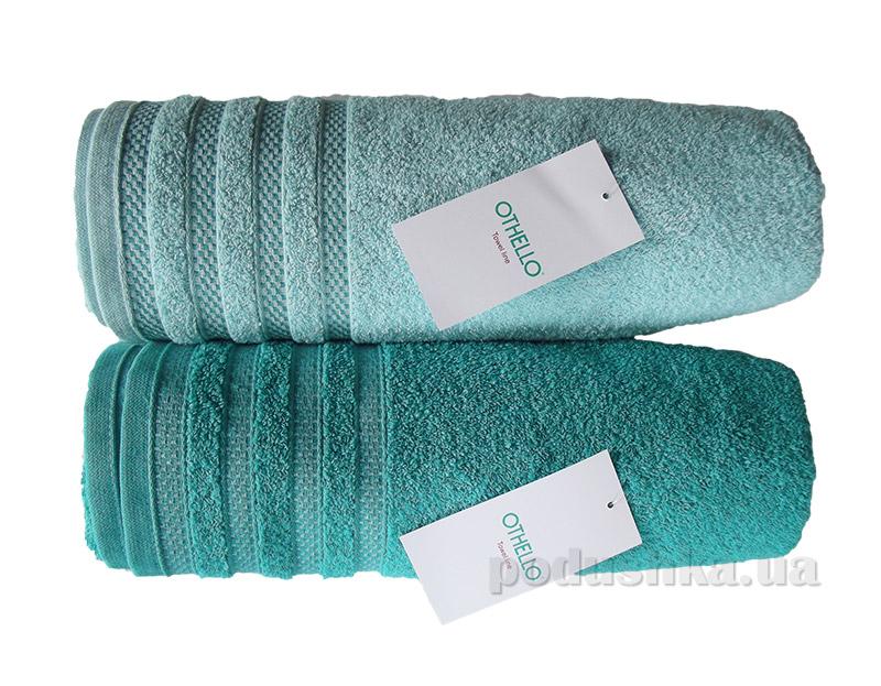Набор махровых полотенец Othello Aqua бирюзовое и светло-бирюзовое