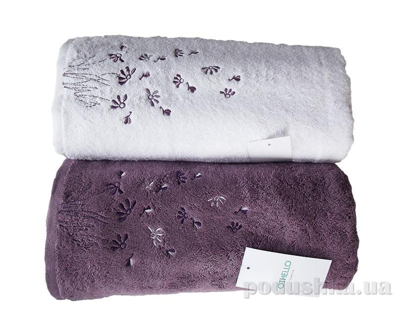 Набор махровых полотенец Othello Papatya белое и сиреневое разного размера