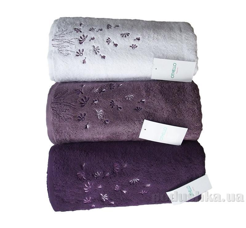 Набор махровых полотенец Othello Papatya белое, сиреневое и фиолетовое